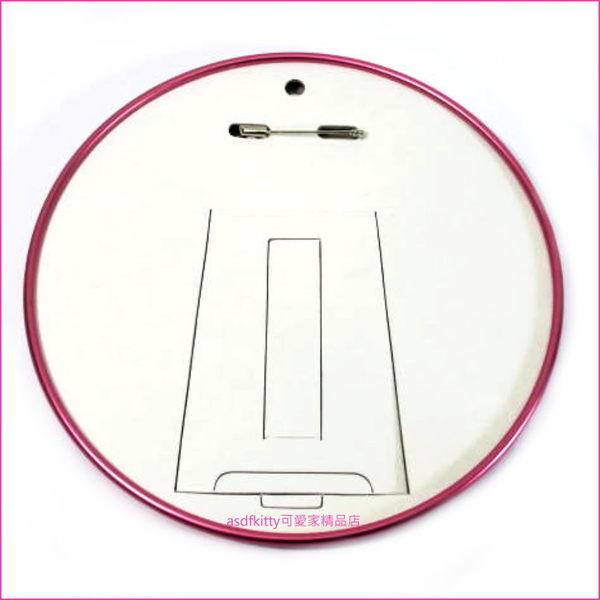 asdfkitty可愛家☆kitty 展示立牌可當超大別針-1997年出的絕版商品-日本製