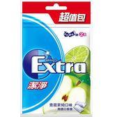 Extra潔淨無糖口香糖起值包-青蘋萊姆口味62g【愛買】