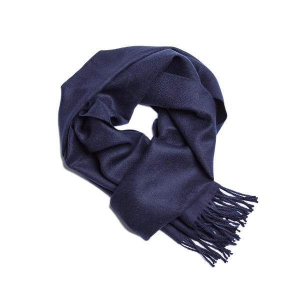Alpaka Scarf Exclusive 100% 30x200cm 極致系列 素面單色 羊駝毛 超輕量 圍巾(海軍深藍)