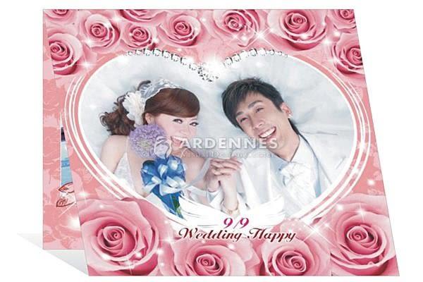 【ARDENNES】婚禮佈置系列 相片喜帖 方形喜帖 / 一組100張 喜卡 SL-009