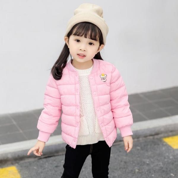 秋冬季兒童羽絨棉服男女童短款棉襖寶寶內膽保暖棉衣外套 格蘭小舖