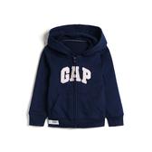 Gap女幼徽標LOGO毛圈布內裡連帽衫567906-海軍淺藍