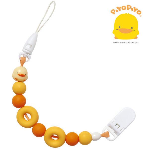 黃色小鴨 PiYO PiYO 夜光甜甜圈奶嘴鍊(食品級矽膠不傷齒齦)