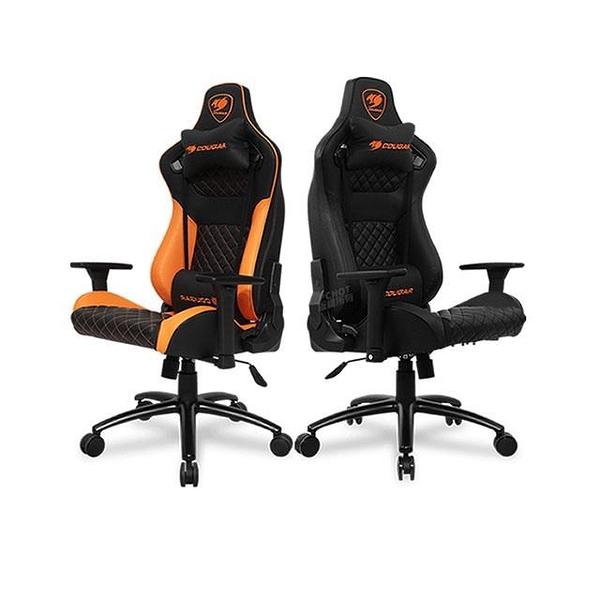 【南紡購物中心】Cougar 美洲獅 EXPLORE S 電競椅 黑/黑橘色/高密度成型發泡棉/可調動態結構