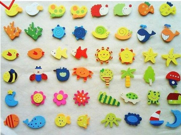 【TT207】創意可愛動物冰箱貼磁貼 卡通立體早教軟膠磁吸鐵石裝飾貼