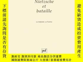 二手書博民逛書店Nietzsche罕見Et BatailleY255562 Francois Warin Presses Un