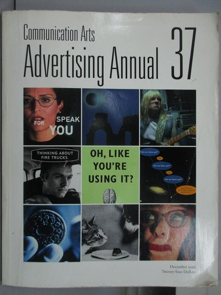 【書寶二手書T2/設計_QIF】Communication Art_Advertising Annual37_1996/