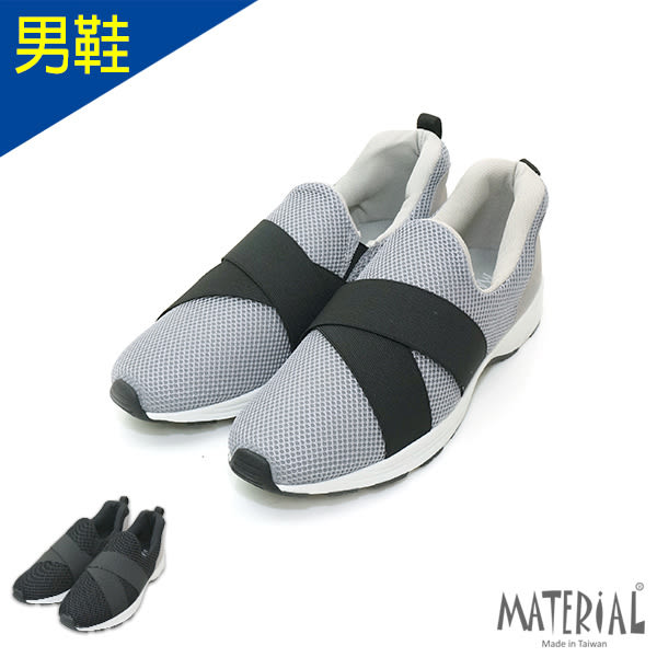 男鞋 時尚透氣網布繃帶休閒鞋 MA女鞋 T3544男