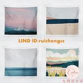 油畫風景北歐臥室床頭客廳墻面裝飾布拍照直播掛布【大碼百分百】
