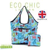 英國ECO CHIC時尚可折疊休閒袋-塗鴉貓