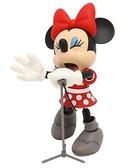 小花花日本精品迪士尼米妮紅色點點洋裝搖滾歡唱造型公仔居家擺飾絕版品~8