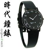 【台南 時代鐘錶 agnes b.】BG4002P1 中性薄型 手寫風 數字皮革錶帶女錶 32mm 黑 7N00-0BC0D