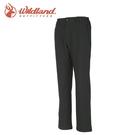 【Wildland 荒野 男 SOFTSHELL保暖長褲《黑》】W2310/戶外/登山/休閒褲
