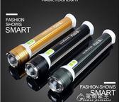 強光手電筒可充電超亮氙氣1000多功能特種W兵打獵LED電燈用花間公主