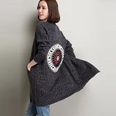 長版針織外套-羊毛長袖寬鬆中長款加厚女毛衣外套72ak23【巴黎精品】
