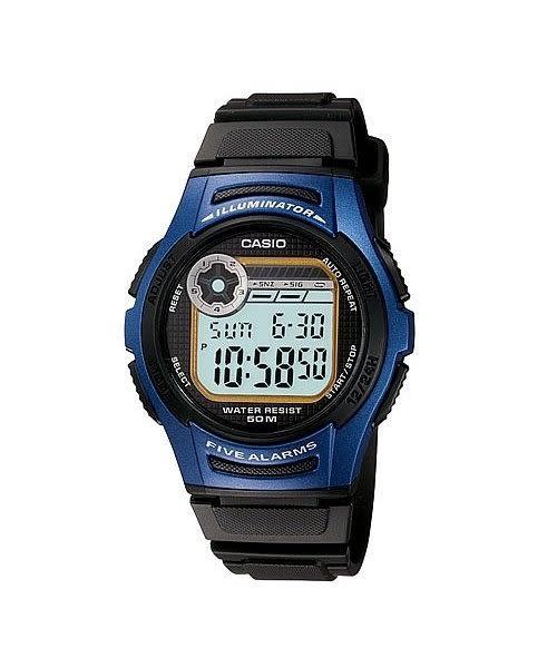【時間光廊】CASIO 卡西歐 電子錶 10年電力 五組鬧鈴 防水50M 學生/當兵 W-213-2AVDF