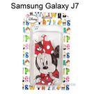 迪士尼透明軟殼 [素描] 米妮 Samsung J700F Galaxy J7【Disney正版授權】