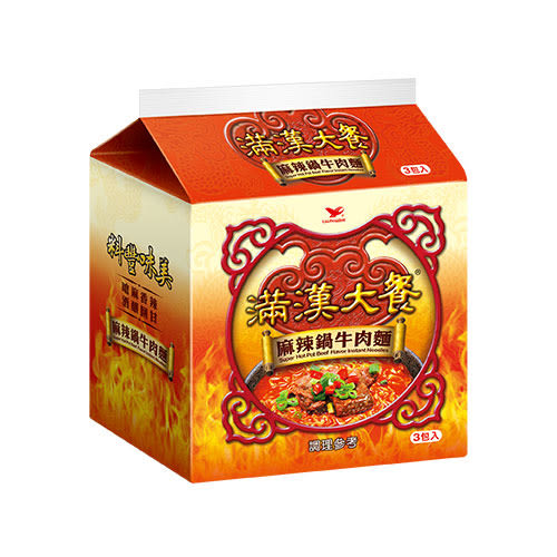 統一滿漢大餐麻辣鍋牛肉麵*3入【愛買】