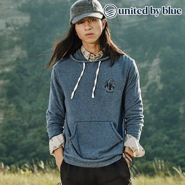 United by Blue 男起球長袖連帽上衣 101-095 Passing Through Hoodie / 城市綠洲 (有機棉、環保、帽T)