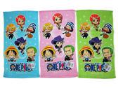 ~卡漫城~One Piece 小毛巾三條一組㊣版毛巾Luffy 魯夫船長海賊王Q 版航海王