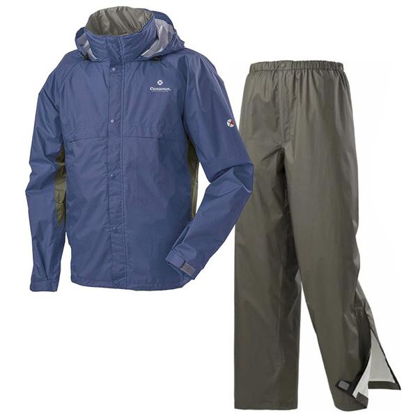 【日本 Caravan】中性 Air Refine Lite 雨衣雨褲套裝組『660 藍』0101909 防水.下雨.雨天.兩件式雨衣