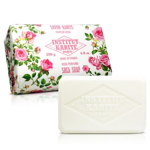 Institut Karite Paris 巴黎乳油木玫瑰花園香氛手工皂(200g)★ZZshopping購物網★