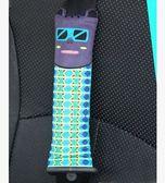 卡里努努個性貓咪汽車用品安全帶套護肩套可愛卡通車飾單只(灰色)