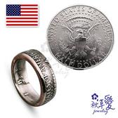 《 SilverFly銀火蟲銀飾 》手作硬幣戒指「美金(50分)-美國總統徽章」Ailsa秋草愛