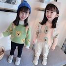 女童毛衣2019新款水貂絨洋氣兒童套頭針織衫小童女寶寶春秋款外套