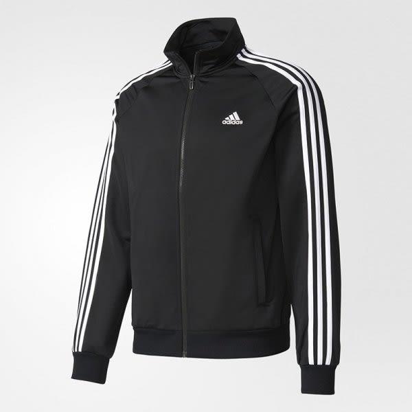 adidas 黑白 基本款 立領 運動外套 運動長袖 三條線 男生 BR1024