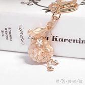 韓國創意掛飾福袋水鑚可愛貓眼石汽車鑰匙扣女包包掛件鑰匙鍊飾品 交換禮物