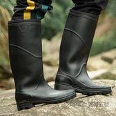 雨鞋高筒男士雨靴時尚男釣魚成人男款高防水中筒套鞋勞保膠鞋水鞋 後街五號