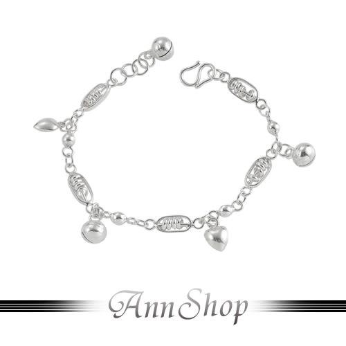 【棒棒糖純銀小孩手鍊‧925純銀】嚴選熱賣款寶貝彌月禮珠寶銀飾禮品