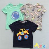 童裝 上衣 彩色滑板/電話鈴聲/吉普車印花短袖T恤(共3款)
