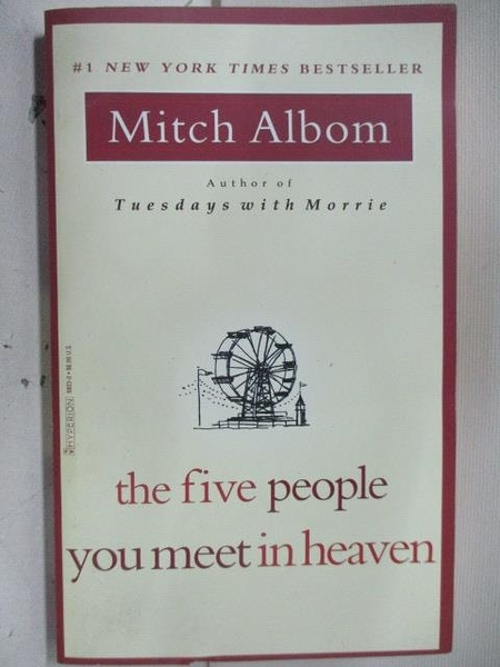 【書寶二手書T1/原文小說_ALZ】The five you meet in heaven_Mitch Albom