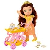 《 Disney 迪士尼 》美女與野獸 迪士尼公主娃娃-貝兒與餐車 / JOYBUS玩具百貨