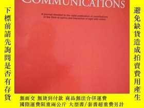 二手書博民逛書店Optics罕見Communications Volume376