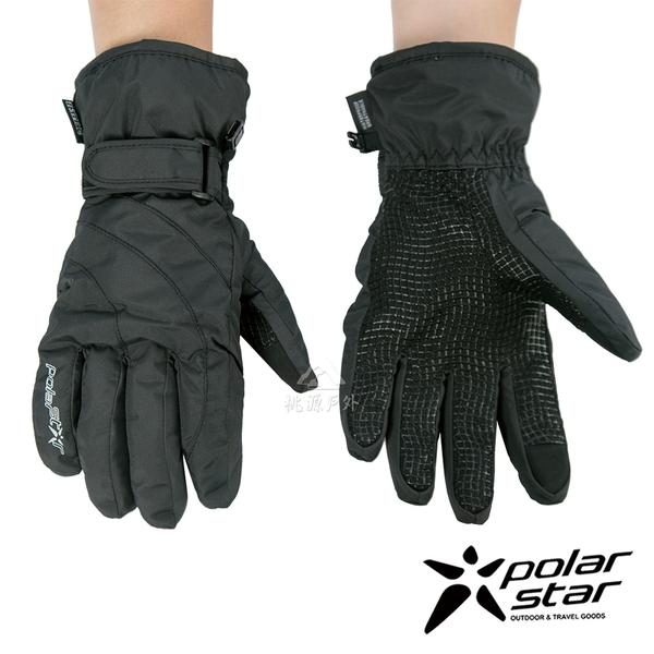 【 PolarStar 】女防水保暖觸控手套『黑』P18626 可觸控手套.防風手套.保暖手套.防滑手套.刷毛手套