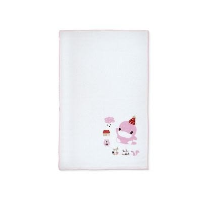 KUKU酷咕鴨 狐狸熊單印緹花紗布澡巾-2入(KU2381)顏色隨機出貨[衛立兒生活館]