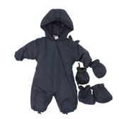 【愛的世界】防風鋪棉連帽衣連褲/6個月~2歲-中國製- ★秋冬連身