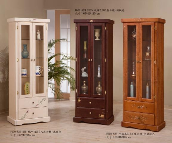 8號店鋪  全實木鄉村風係列 2.3尺展示櫃係列 訂製傢俱~客製化全實木傢俱