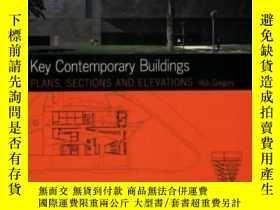 二手書博民逛書店Plans,罕見Sections And Elevations: Key Contemporary Buildin