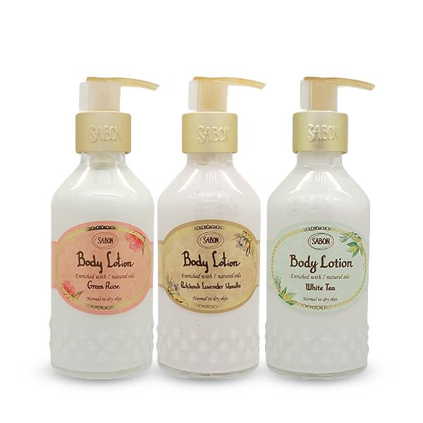 Sabon 身體乳液 200ml 玻璃圓瓶 香味可選 經典 白茶 玫瑰【PQ 美妝】NPRO
