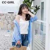 中大尺碼 透膚百搭襯衫外套~共兩色 - 適XL~4L《 66308J 》CC-GIRL