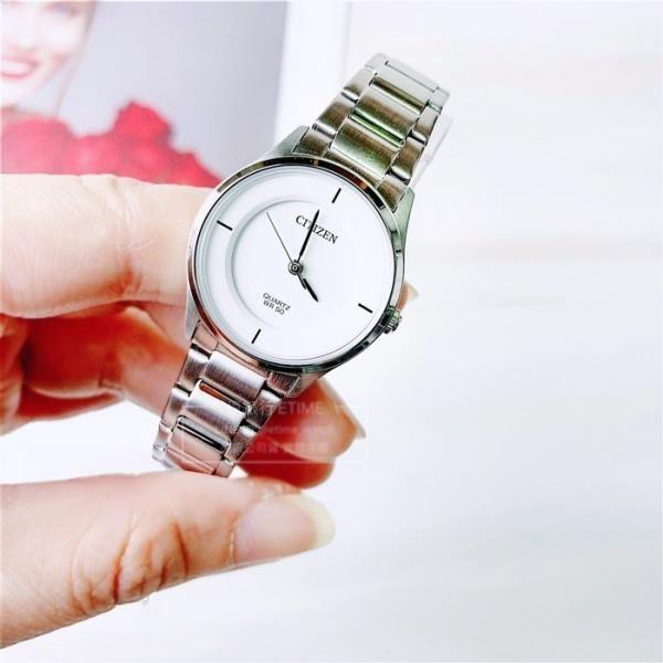 【南紡購物中心】CITIZEN 星辰 簡約石英女錶 (ER0201-81B)