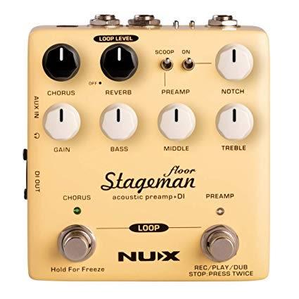 凱傑樂器 NUX Stageman Floor 木吉他 前級 效果器 Preamp DI 內建 LOOP 公司貨