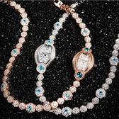 石英錶-奢華纏繞水鑽手鍊造型女手錶2色71r6【時尚巴黎】