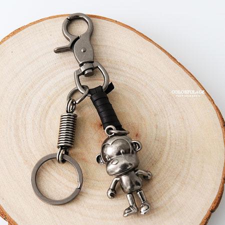 腰鍊褲鍊 鑰匙圈 立體酷酷猴子造型 柒彩年代【NF75】腰間吊飾