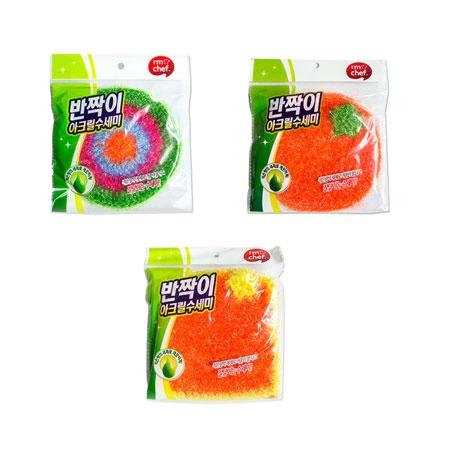 韓國 I'm chef 絲光纖維菜瓜布 (1入) 清潔 廚房 浴室 居家 洗碗 菜瓜布