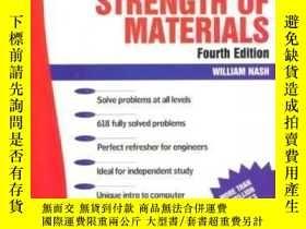 二手書博民逛書店Schaum s罕見Outline Of Strength Of Materials 4th EditionY